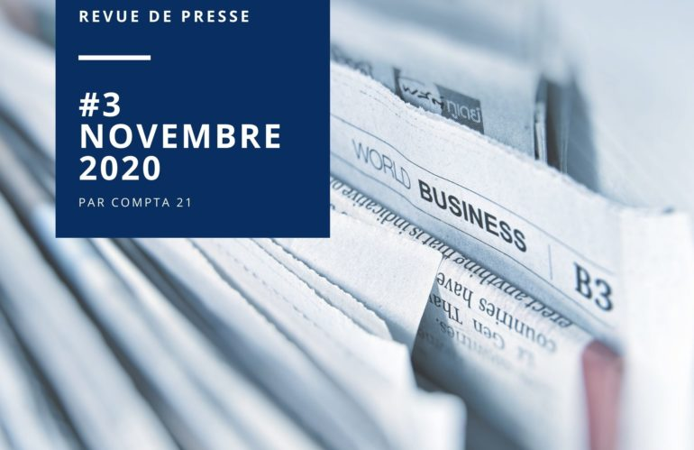 #3 – Novembre 2020 : Revue de presse